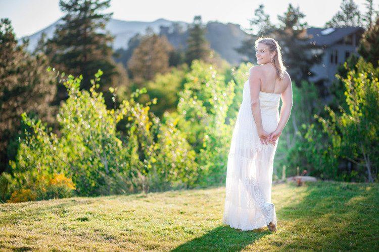 album images of romantic mountain wedding in Estes Park Colorado